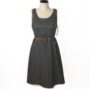 NEW Striped Ebony Dress